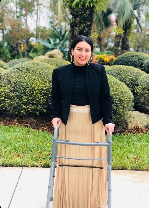 Leg brace ladies polio Audrey